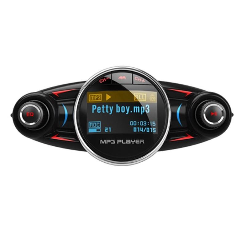 Modulator Transmitator Fm Auto Techstar® Bt-08, Bluetooth 4.0, Car Kit Handsfree, Mp3 Player Cu Display Led
