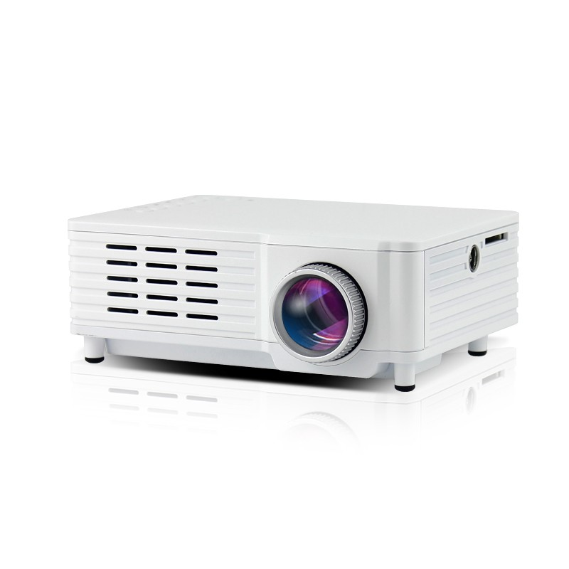 Videoproiector Mini Portabil Cu Led Ml205 White Cu Audio Incorporat Compatibil Hdmi  Usb  Sd Si Tv