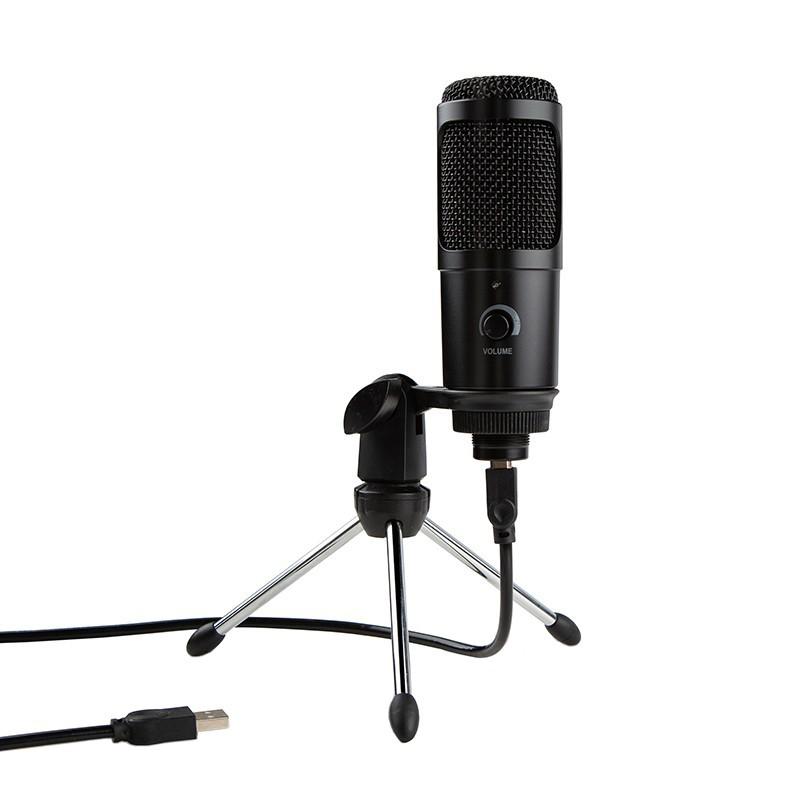 Microfon USB Techstar®, Plug And Play, Condensator pentru Jocuri pe Calculator, Inregistrare si Youtube