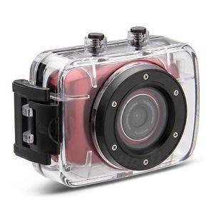 Camera Sport Si Auto Camcorder Hd Cu Touchscreen & Waterproof Rosu