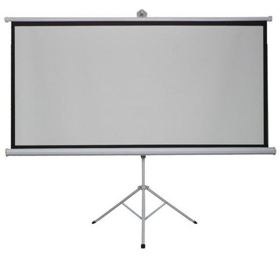 Ecran Proiectie cu Trepied, Format 4:3, Diagonala 213.36 cm pentru Videoproiector sau Home Cinema thumbnail