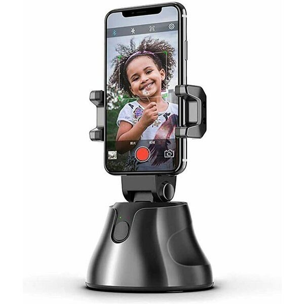 Suport selfie pentru telefon iUni S1, urmarire automata inteligenta si rotire la 360°