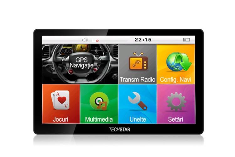 "GPS Auto/Camion Navigatie Techstar® 7 cu Touchscreen Premium 8GB Windows CE 128 Ram"""