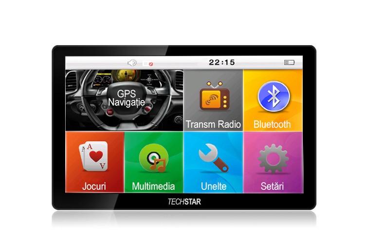 Gps Auto Techstar 7 Premium 4gb Bluetooth