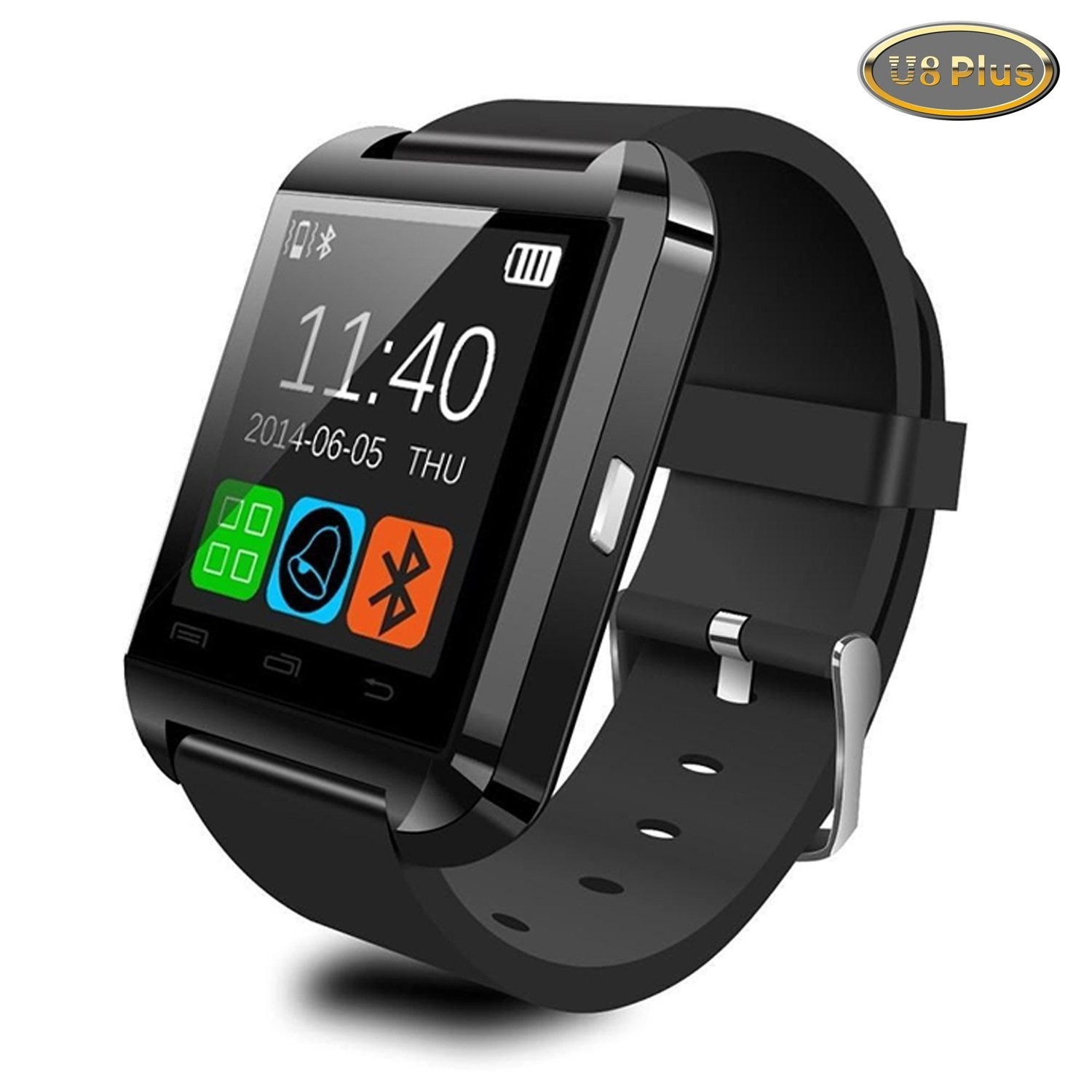 Smartwatch U-watch Bluetooth U8 Plus Negru Compatibil Microsd