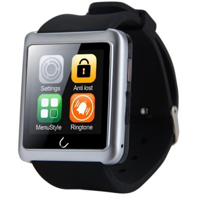 Smartwatch U-Watch BT-U10L Bluetooth negru/gri cu Radio FM