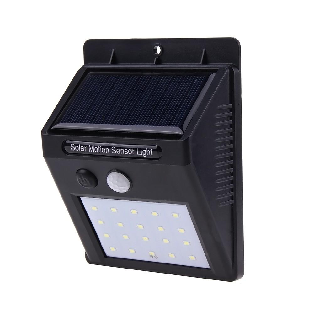 Proiector Led Cu Panou Solar Si Senzor De Miscare Dx10 Lampa 20 Led-uri